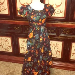 Vintage Lord & Taylor floral maxi dress